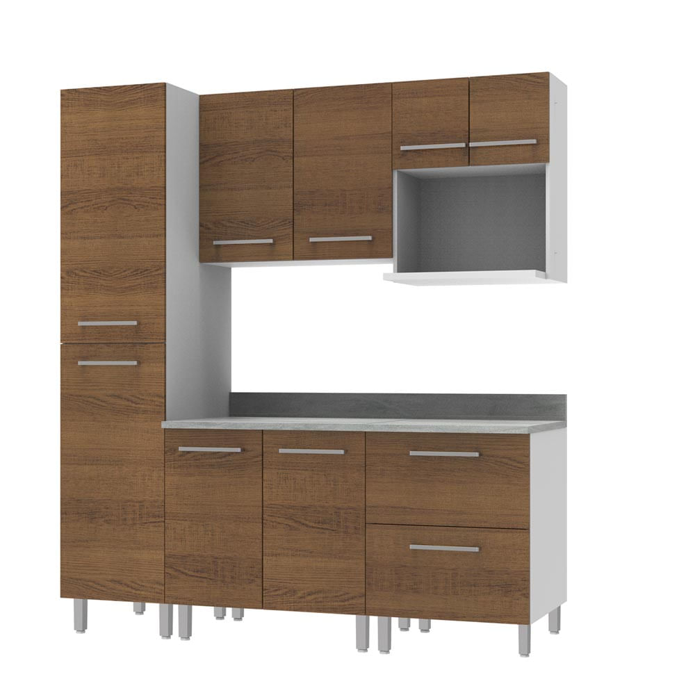 COMBO Muebles de cocina modulares 1.85 metros Nogal - Promart