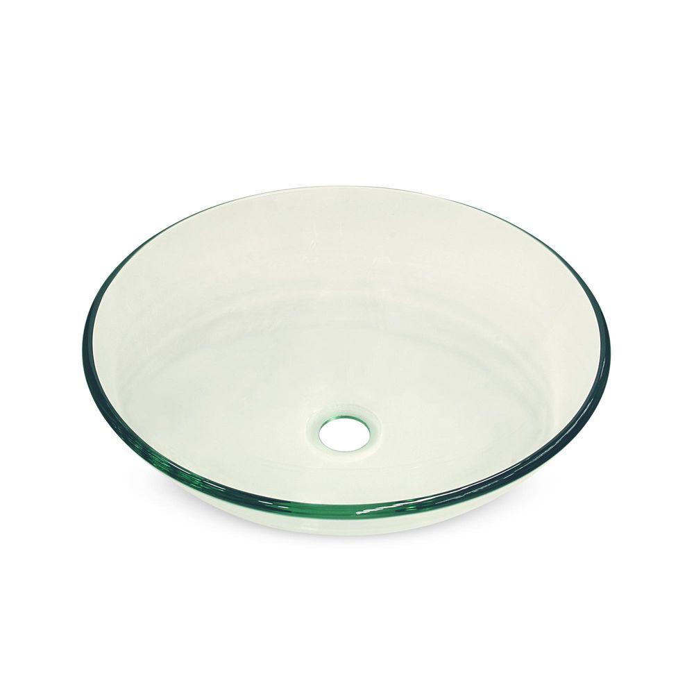 Ovalín de vidrio transparente 42 cm - Promart