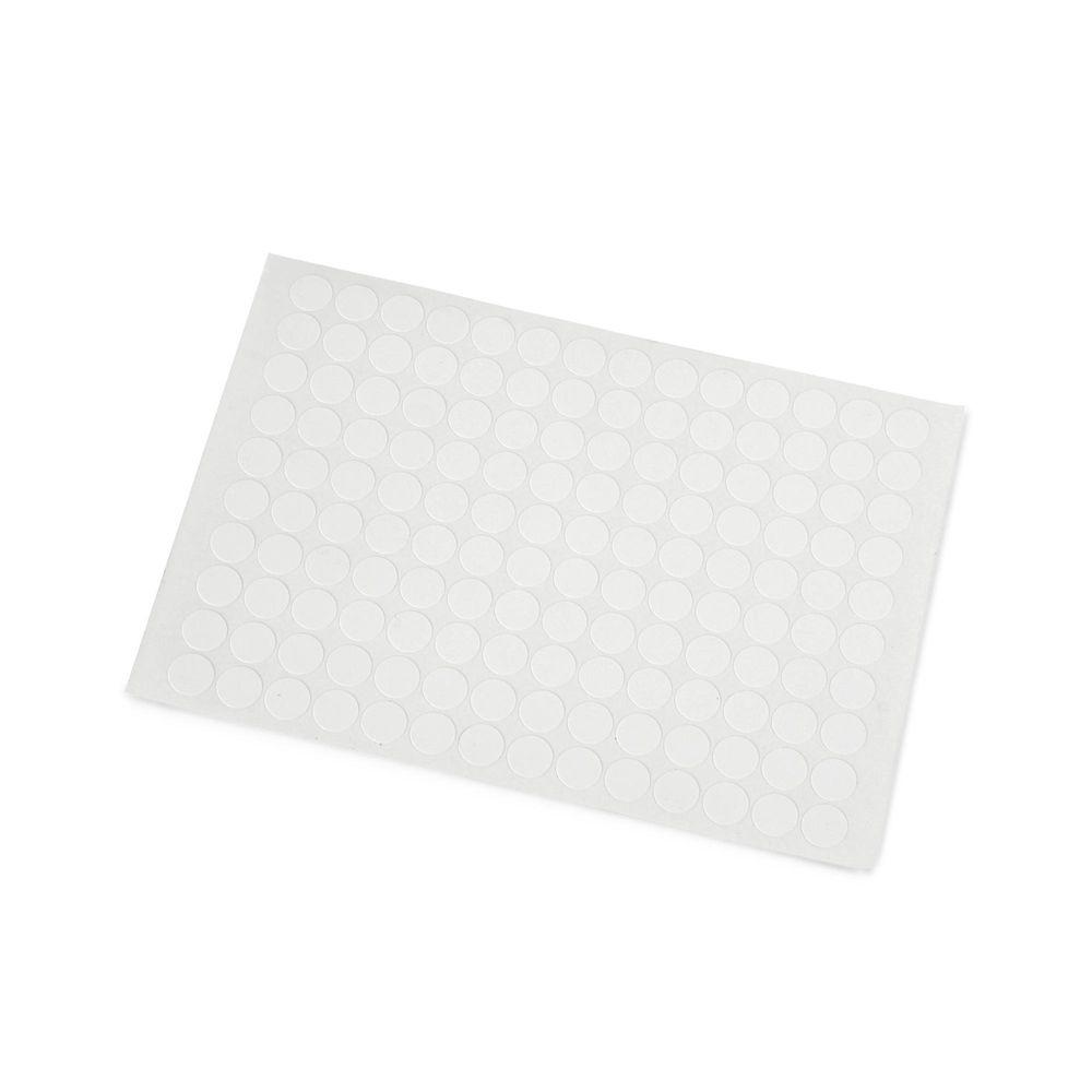 blanco Tapas autoadhesivas para tornillos de 13 mm