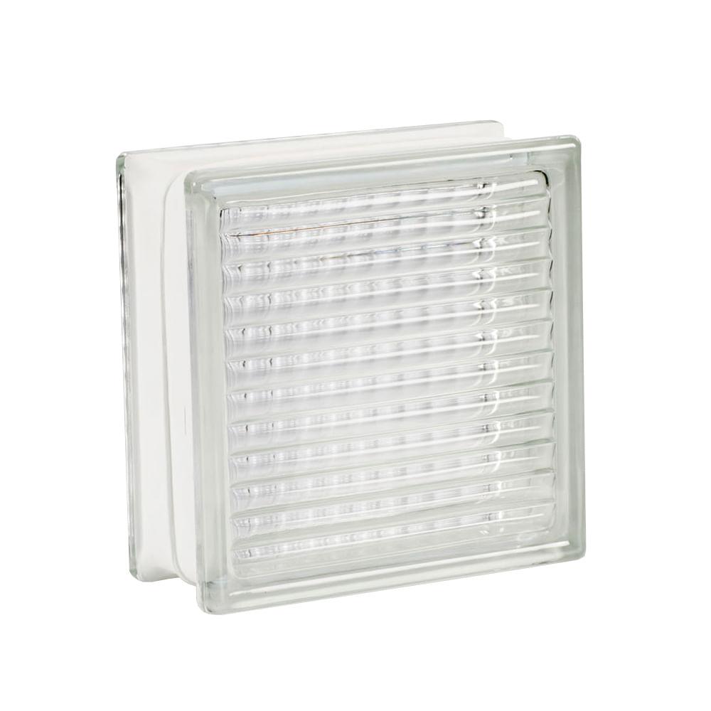 Bloque de vidrio Cuadriculado 19 x 19 cm - Promart