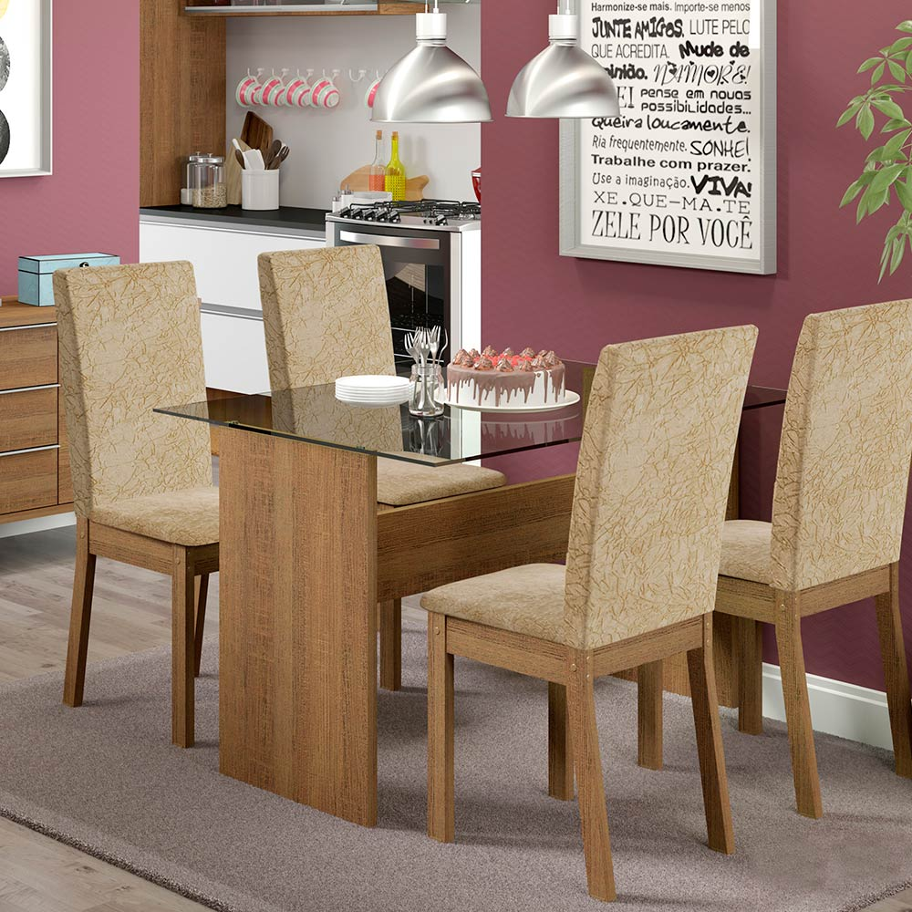 Comedor Melrose 4 sillas