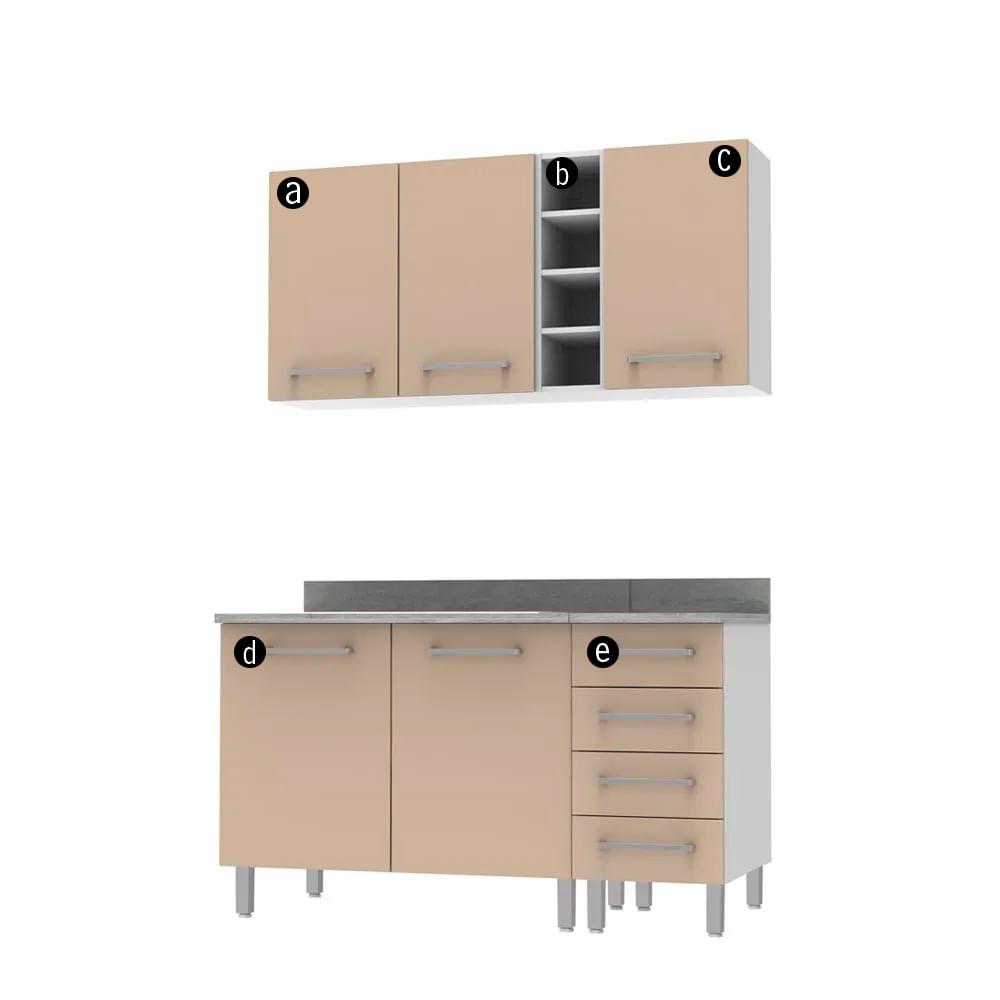 COMBO Muebles de cocina modulares 1.40 metros Mercurio - Promart