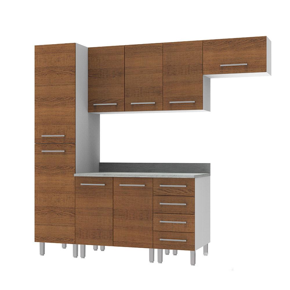 COMBO Muebles de cocina modulares 2.25 metros Nogal