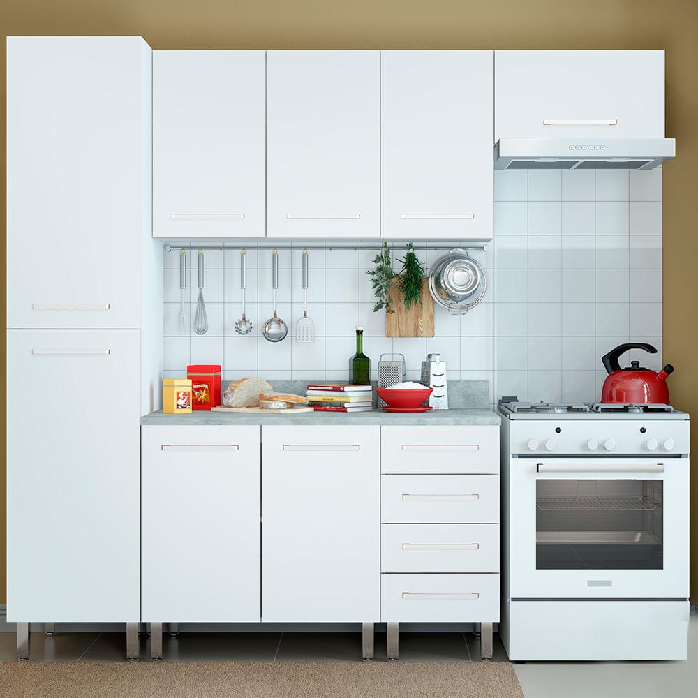 COMBO Muebles de cocina modulares 2.25 metros Blanco