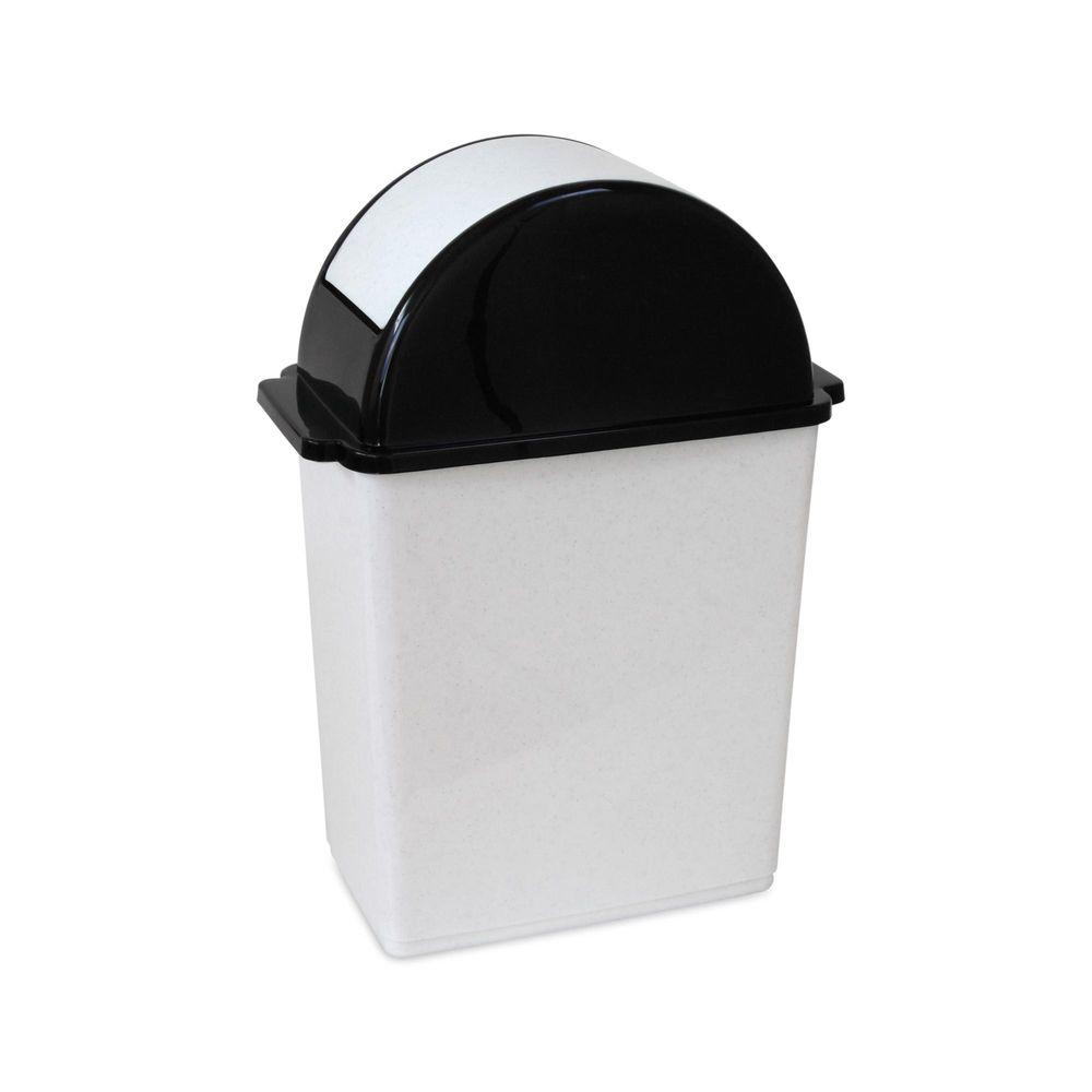 30592686d1ea Tacho rectangular plata negro 15 litros - Promart