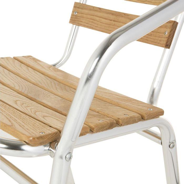 Silla De Terraza Aluminio Madera