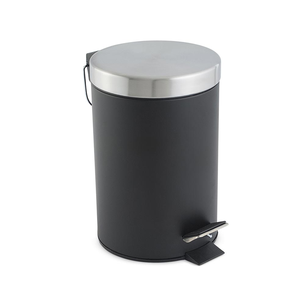 Tacho de baño Acero Inoxidable Mate Negro 3 litros - Promart