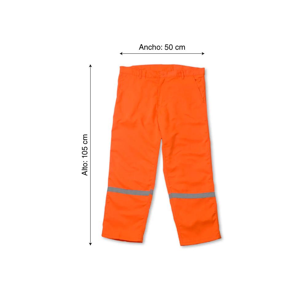 Pantalom Drill Tec Naranja Talla Extra Large Promart