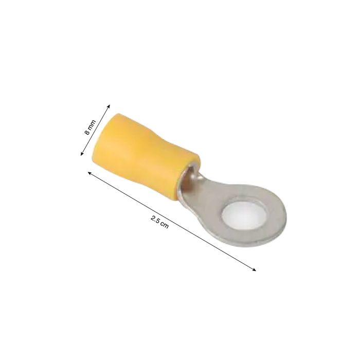 50 X Amarillo 3,7 mm de crimpeado aislados Horquilla Terminal