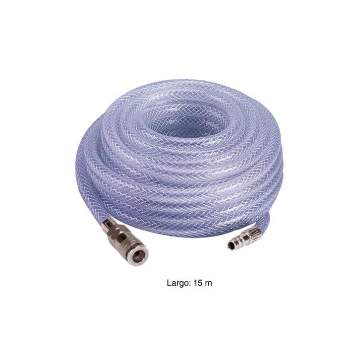 kit de accesorios de manguera de compresor de aire neum/ático de PVC de alta calidad de 7,5 metros con conexi/ón r/ápida para uso industrial Kit de manguera de aire neum/ático