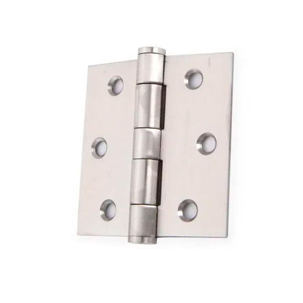 Bisagras de acero inoxidable para ventanas y armarios color plateado 10 unidades