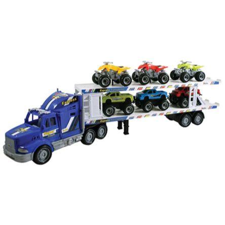 Carro Team Power Transporter 3 Quads&3 Pick Up Surtido 57 Cm Azul