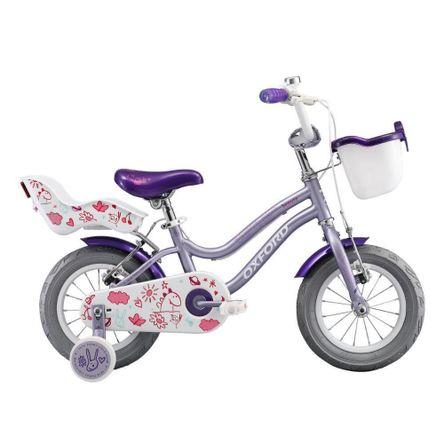 Bicicleta Oxford Beauty 1V Aro 12 Lila/Fucsia