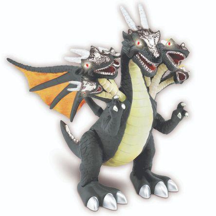 Dinosaurio Dragon 7 Cabezas Gris