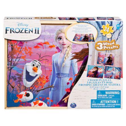 Rompecabezas Frozen De Madera x3