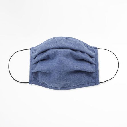 Pack x2 mascarillas Tela H diseño Ameba Azul / Gris
