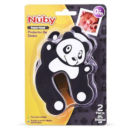 Nuby Protector De Dedos 0% Bpa Om+ Negro-Oso