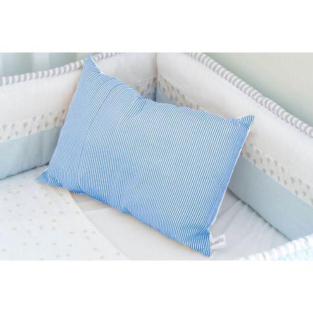 Almohada Algodón Antialergico Sweetie Sw16 Rayas Azules